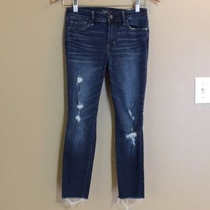 NWOT A & F Harper Ankle Jeans 25S